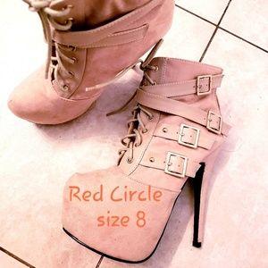 Red Circle high  heels